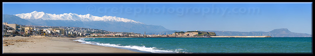 Looking toward Rethymno and the White Mountains