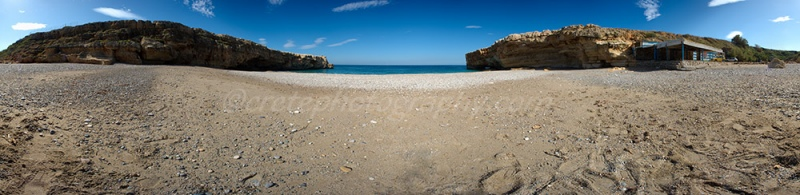 Latzima beach 360 degree panorama