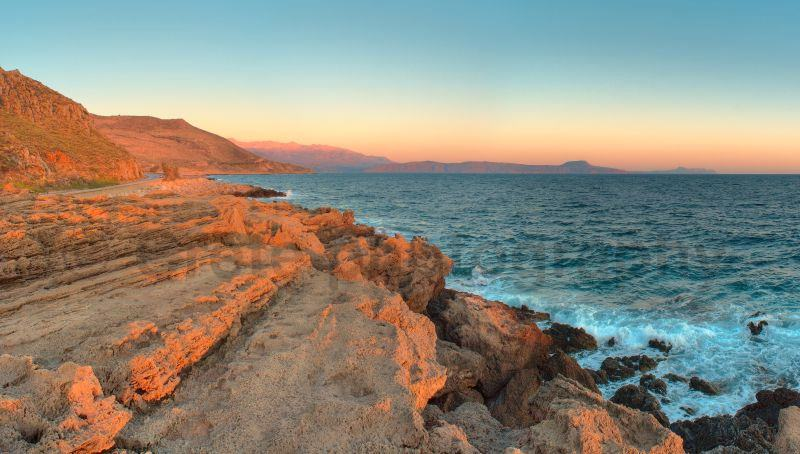 Cretan Sea and White Mountain range